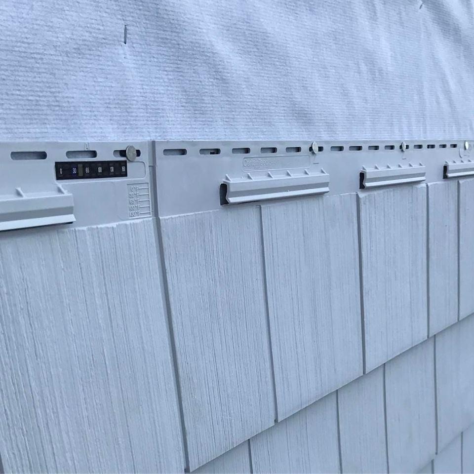 Closeup of Vinyl Cedar Impressions in Milford, CT