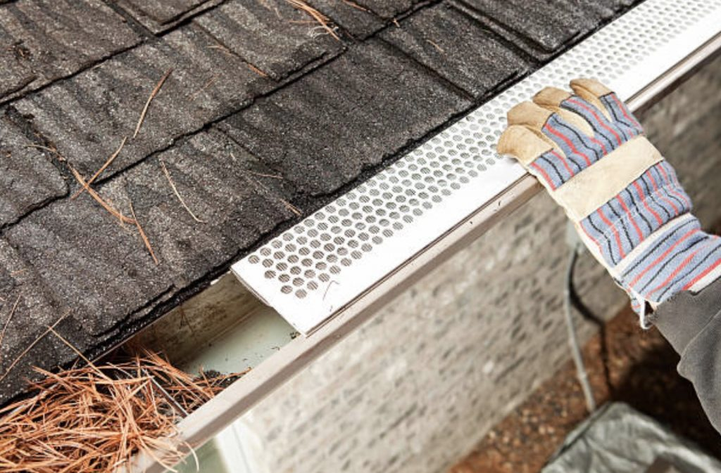 one of the types of gutter guards is mesh gutter guards