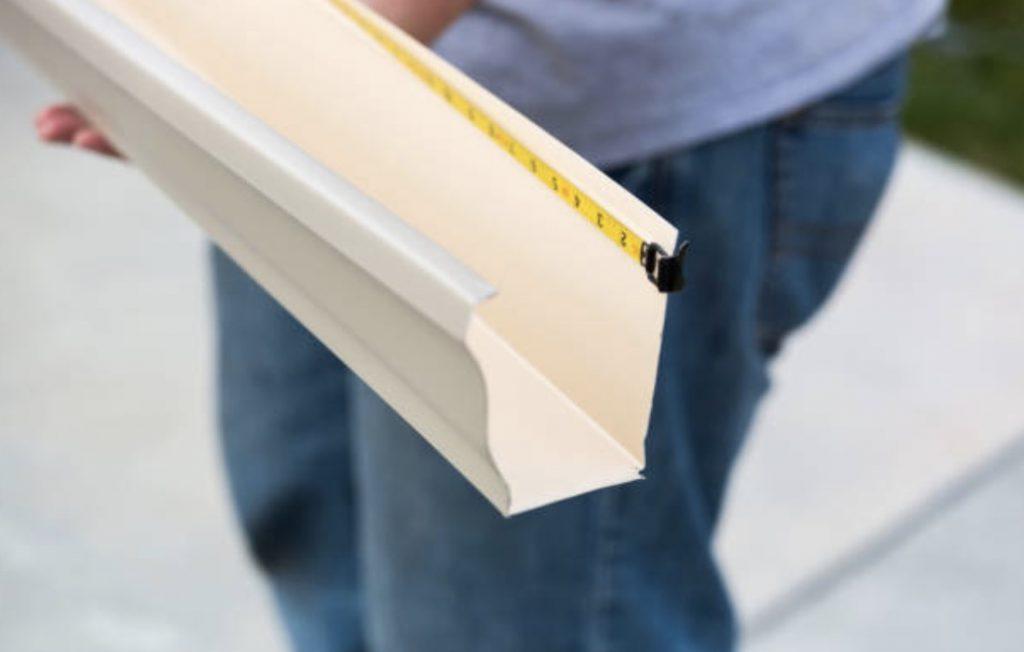 measuring aluminum gutter